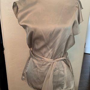 Grey silk shirt New York and co